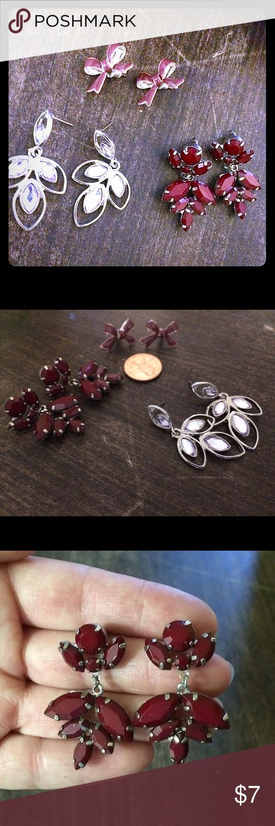 Lot Of 3 Sets Of Old Navy Earrings Gently Used Worn A Handful Of Times