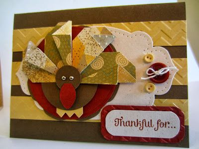 """This would make cute place cards for Thanksgiving! (KB~ want to have a """"play date"""" to make some of these) Paper Seedlings: TURKEY CLUB"""