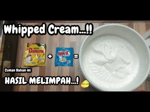Murah Dan Gak Ribet Cara Buat Sendiri Whipped Cream Dirumah Hasil Melimpah Youtube Wipped Cream Cara Buat Cream Cheese Whipped Cream