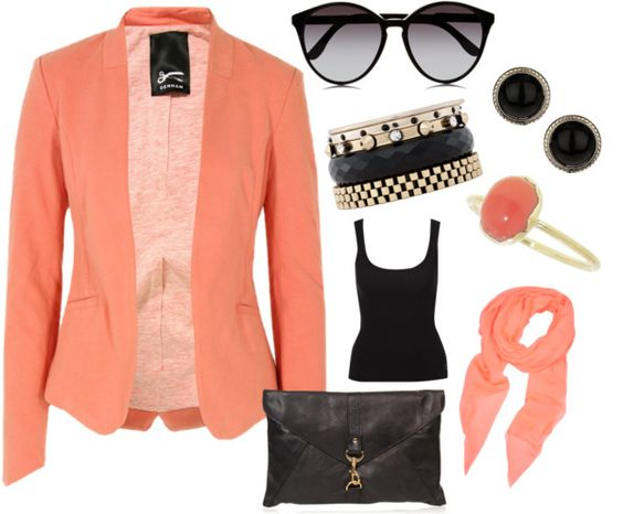 """Coral"" by lenahcaruana on Polyvore:"