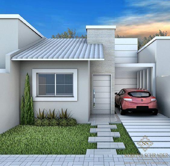 Como Decorar Fachadas De Una Casa Pequena Disenos E Ideas Casas Pequenas Fachada De Casa Casas