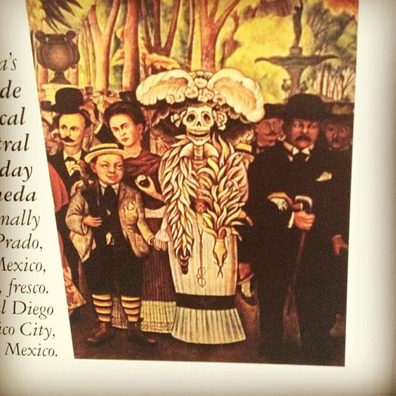 Pinterest the world s catalog of ideas for Diego rivera day of the dead mural