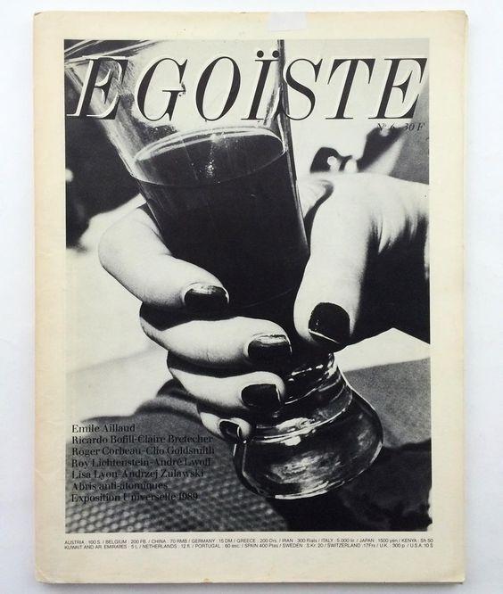 Cheers. Egoiste. No.6. In Helmut Newton cover. 1980 amazine. Email if you want@idea-books.com #egoiste #6 #helmutnewton by ideabooksltd