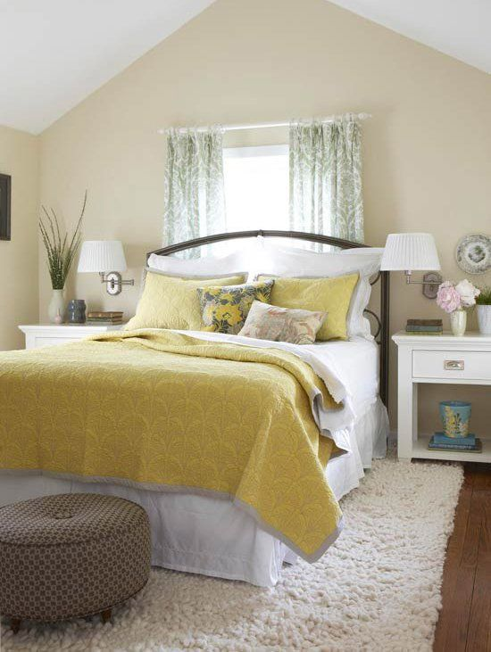 Decorating Ideas For Yellow Bedrooms Yellow Bedroom Decor Yellow Bedroom Bedroom Makeover