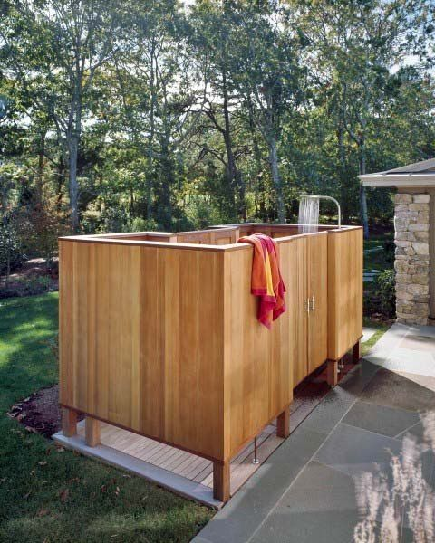 Top 60 Best Outdoor Shower Ideas Enclosure Designs Outdoor Shower Enclosure Outdoor Shower Outdoor Bathroom Design