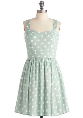 polka dot dress / modcloth