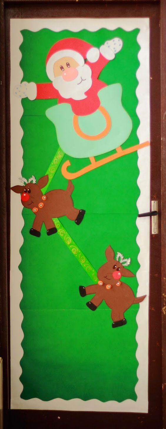 Portas decoradas de natal pesquisa google arte na for Puertas decoradas navidad colegio