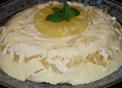 Tarta de Piña Fria Te enseñamos a cocinar recetas fáciles cómo la receta de Tarta de Piña Fria y muchas otras recetas de cocina.