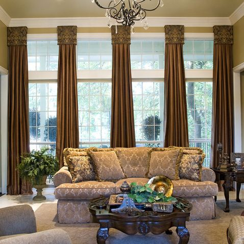 window treatments for large rooms design ideas pictures remodel and decor page 2 golf. Black Bedroom Furniture Sets. Home Design Ideas