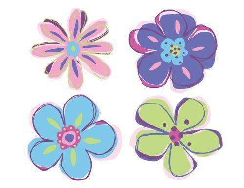 Wallies Wallpaper Cutout, Doodle Flowers by Wallies. $6.89. Acid and Lignin Free. Easy to apply. Washable. Vinyl coated. Pre-pasted. Wallies Doodle Flowers Wallpaper Cutouts are prepasted, vinyl coated cutouts that can decorate walls, glass, wood, paper and more. Just wet the back and put them up. They are easy to remove and won't harm walls. Each package is value packed with 25 individual flowers in 4 styles measuring 4 inches by 4-1/4 inches. The package measures 8-...