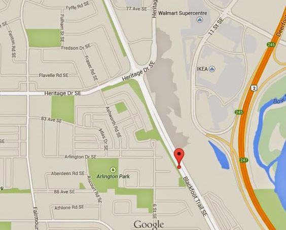 Location | Meadows Mile Professional Centre  8500 Blackfoot Trail SE, Calgary, AB  #MMPC #OnTheMile #YYCre