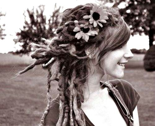 dreads and flowers