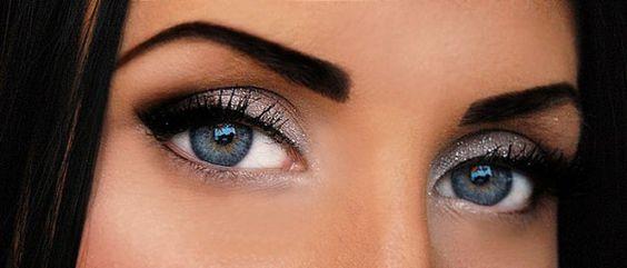 silver on blue eyes