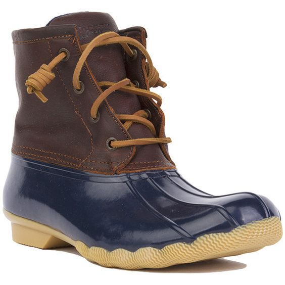 sperry s saltwater duck boots navy 160 cad