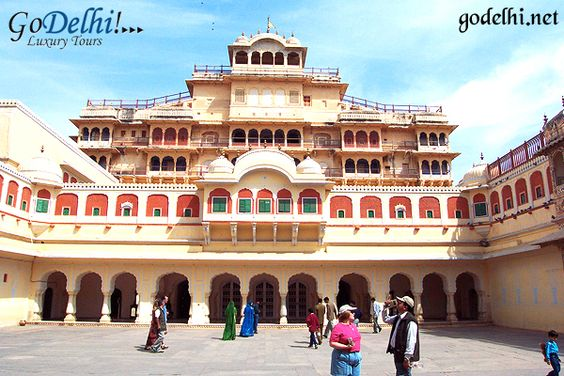 The City Palace is a landmark in Jaipur and is also a very popular tourist hotspot. Apart from the regal architecture, the palace offers a stunning view of the Pink City and also an insight into the rich heritage of a bygone era. The City Palace is a must-see while sightseeing in Jaipur. http://www.godelhi.net/rajasthan-tours/ #JaipurSightseeingTour, #JaipurTourPackages, #JaipurTrip