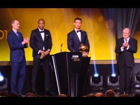 Cristiano Ronaldo Crazy reaction after win Ballon D'Or 2015