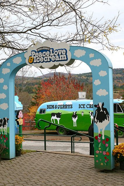 Ben & Jerry's - Burlington, Vermont.  They were giving away chocolate chip cookie dough ice cream as the samples the day i was there!