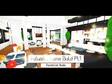 Futuristic Home Build Pt 1 Speed Build Roblox Adopt Me Youtube Futuristic Home Building A House Home Roblox
