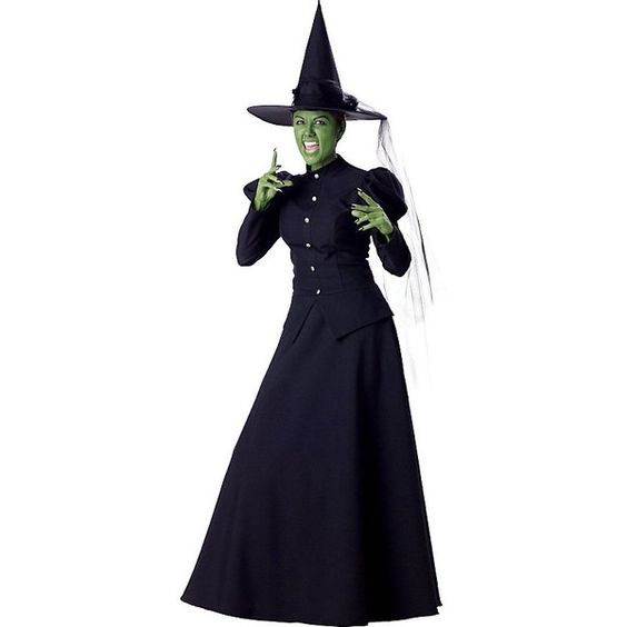 Womens Wicked Witch Halloween Costume (117,785 KRW) ❤ liked on Polyvore featuring costumes, halloween costumes, multicolor, wicked witch adult costume, witch costume, adult ladies halloween costumes, party costumes and wizard of oz witch costume