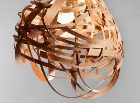Ceiling Light - Nest Veneer Lampshade - Wooden Lamp - Ceiling Lighting - Wood Lampshade - Wood Light Fixture - Pendant Light - Hanging Lamp