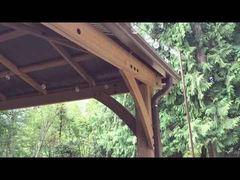 55 Pt 5 Costco Yardistry 12x14 Wood Gazebo Rain Gutters Youtube Gutters Gazebo Rain Gutters