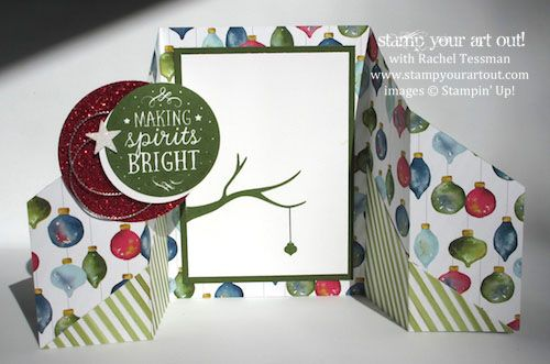 Season of Cheer Double Gate Fold card… #stampyourartout #stampinup -  Stampin' Up!® - Stamp Your Art Out! www.stampyourartout.com