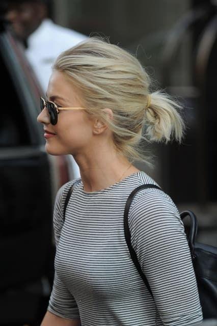 Julianne Hough S Short Hairstyles In 2020 Julianne Hough Short Hair Short Hair Ponytail Hair Styles