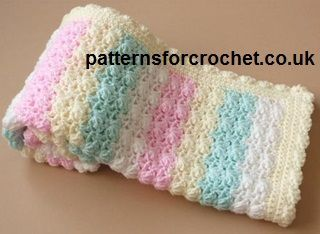 this Crochet Candy Stripe Baby Blanket Pattern by Patters For Crochet ...