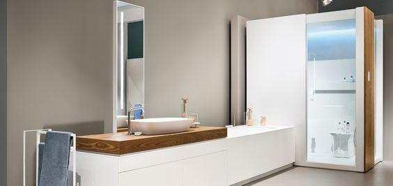 Makro. Soluzione di doccia integrata con bagno turco, vasca da bagno e ...