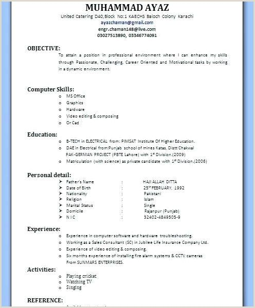 Resume Format For Bank Job Pdf Download Resume Format Resume