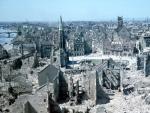 Angeblich fehlten im Modell der zerstörten Stadt Frankfurt mehr Häuser als tatsächlich zerstört waren.