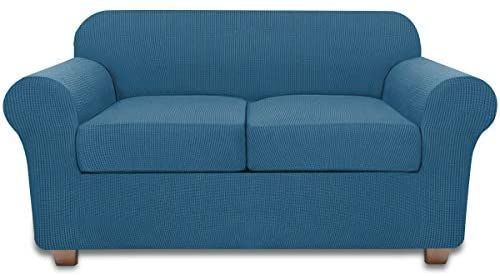Amazon Com Sofa Loveseat Slipcover For 2 Cushion Couch Covers 3 Piece Loveseat Cover Sand Kitchen Dining Loveseat Covers Love Seat Loveseat Slipcovers Slipcovers for loveseats with 2 cushions