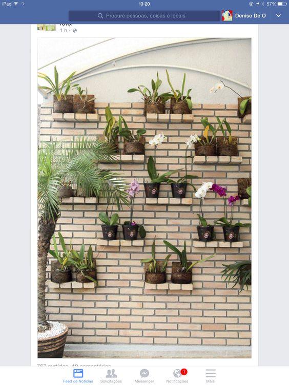 Suporte plantas de tijolos