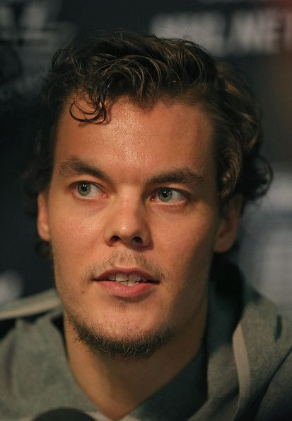 Tuukka Rask Tuukka Rask #40 of the Boston Bruins answers questions during the 2013 NHL Stanley Cup media day at the United Center on June 11...