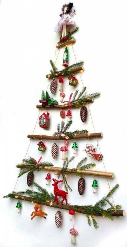 39 Simply Extraordinary Diy Branches And Diy Log Crafts That Will Mesmerize Your Gues Christmas Decorations Rustic Unique Christmas Trees Rustic Christmas Tree