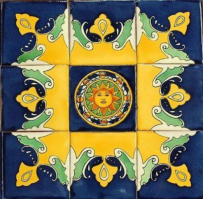 9-Mexican-Talavera-Tiles-Ceramic-Tiles-Hand-Made-M12