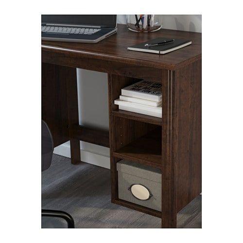Brusali Desk Brown 35 3 8x20 1 2 Ikea Ikea Desk Desk Ikea Brusali