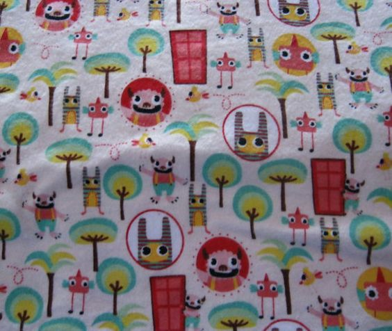 Custom Made Cloth DiaperSilly MOnsTerS by Los by loschiquitos, $9.25