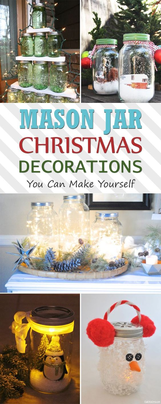Christmas decorations you can make yourself - Mason Jar Christmas Decorations You Can Make Yourself