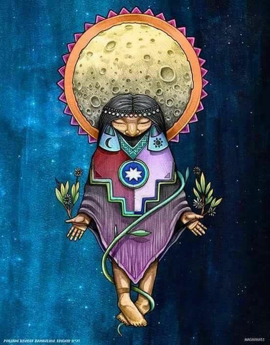 El Chaman Arte Mapuche Arte Aborigen Arte Latinoamericano
