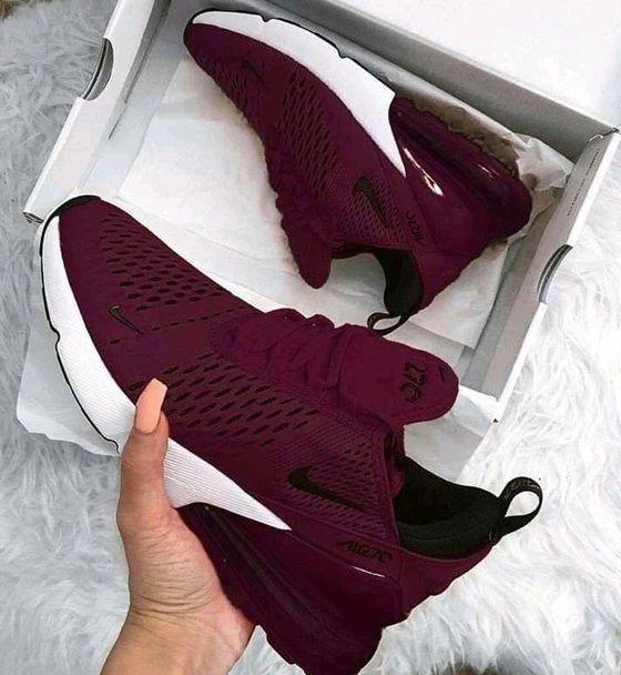 Burgundy sneakers, Nike shoes women
