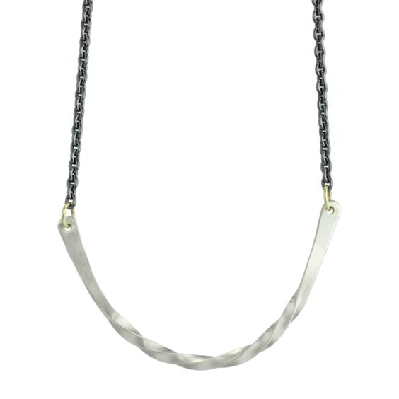 heavy bias arc necklace