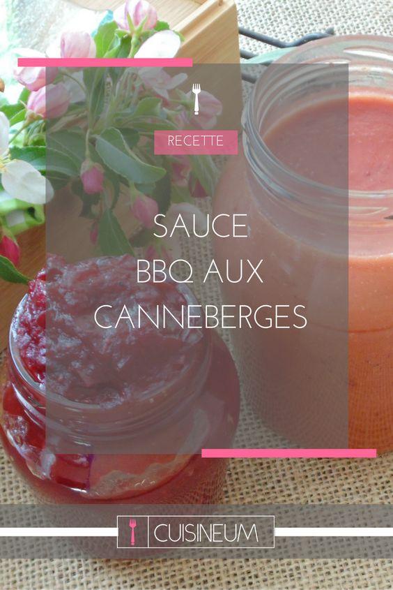 Sauce BBQ aux canneberges