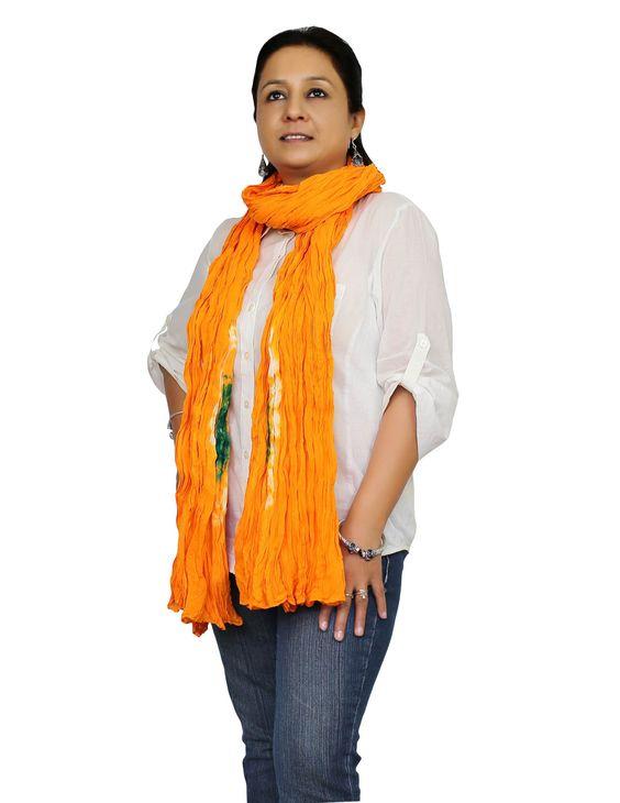 Baumwolle zerknittert Schal Tie Dye lange Damen Accessoires, die Freizeit-indische Kleider gestohlen haben: Amazon.de: Bekleidung