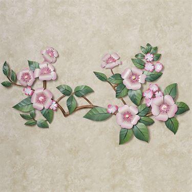 Oriental Splendor Floral Metal Wall Sculpture