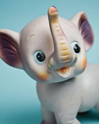 Vintage Toy Elephant 8x10 Photograph