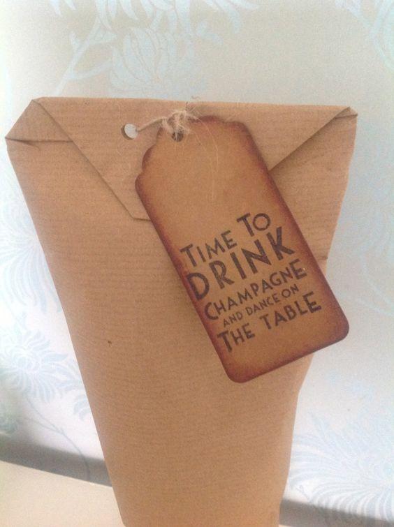 Shooglie Crafts : How to wrap bottles tutorial