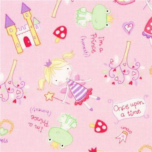 169378 rose fairy tale fabric frog prince