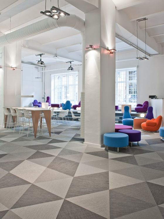 "SKYPE Stockholm offices ~ We need carpeting this in our offices to ""jazz"" it up!:"