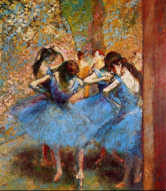 """""""Bailarinas Azules"""" Edgar Degas"""